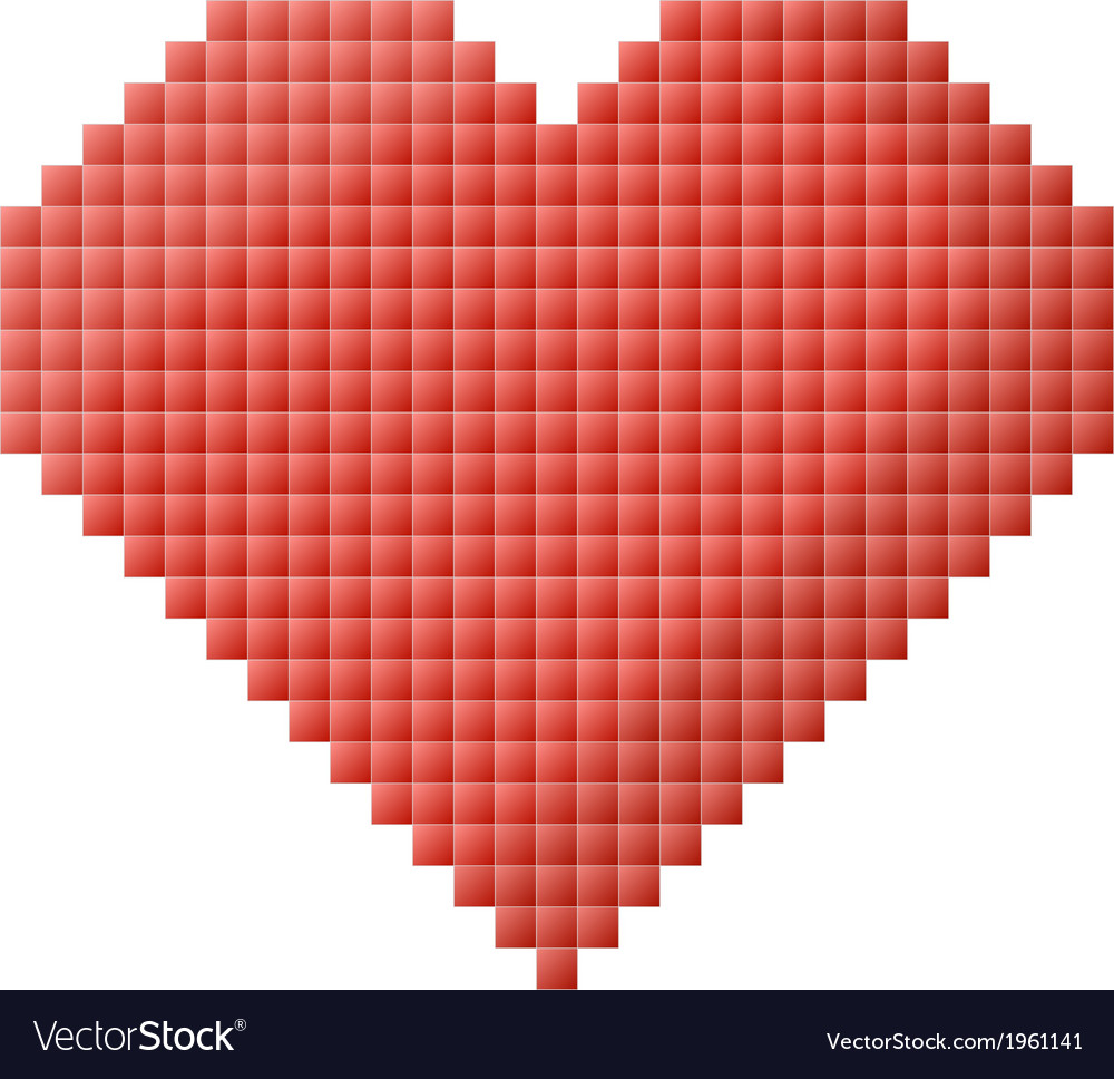 Pixel heart vector | Price: 1 Credit (USD $1)