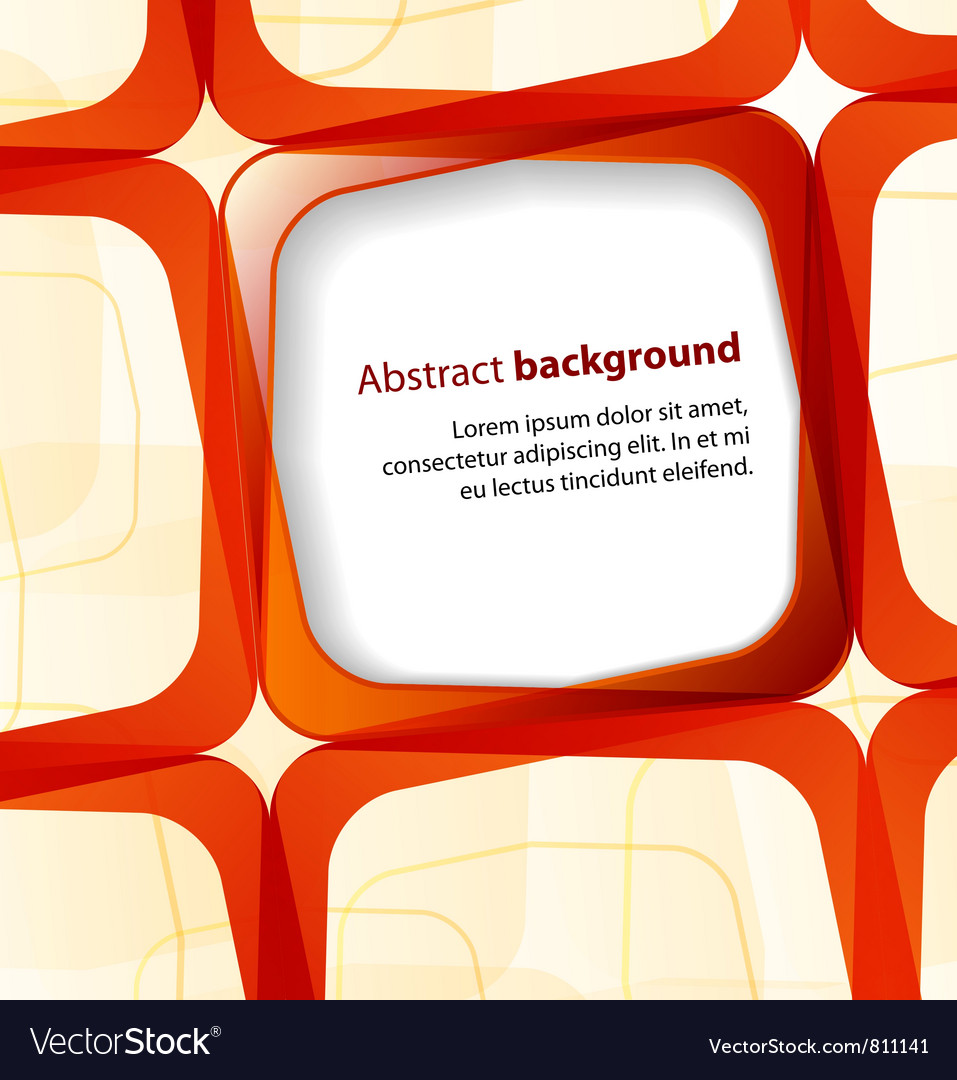 Red square and frame background vector | Price: 1 Credit (USD $1)