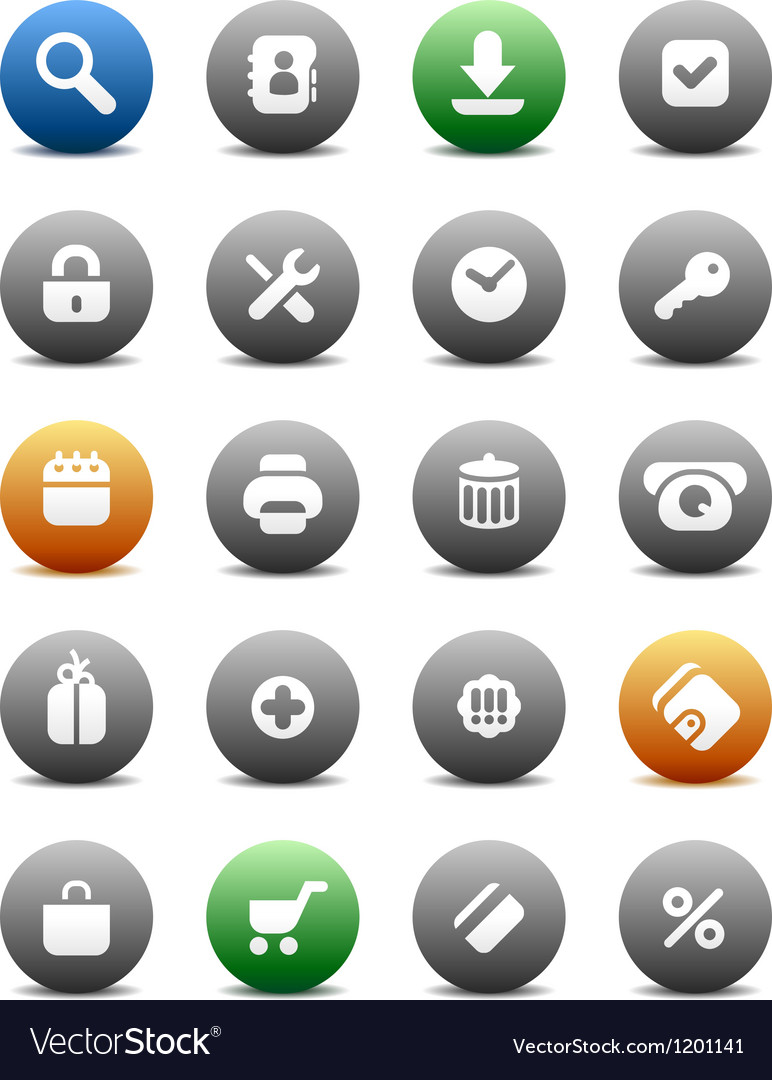 Round buttons for internet and shopping vector | Price: 1 Credit (USD $1)