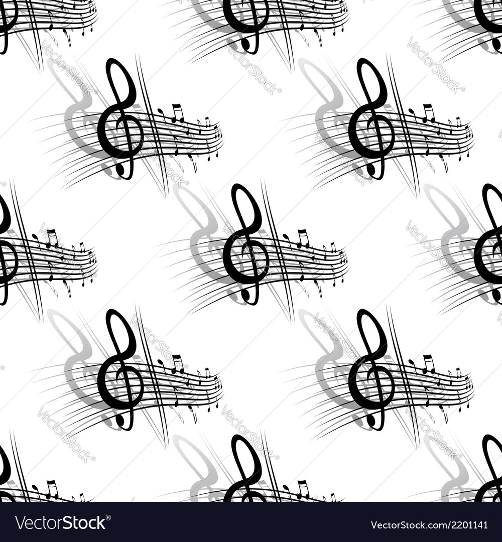 Seamless background music pattern vector | Price: 1 Credit (USD $1)