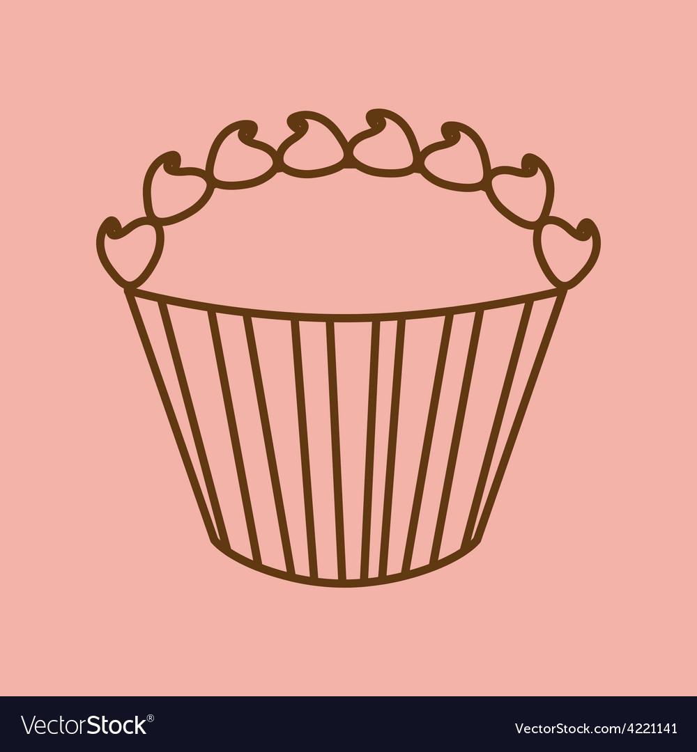Sweet cupcake vector   Price: 1 Credit (USD $1)