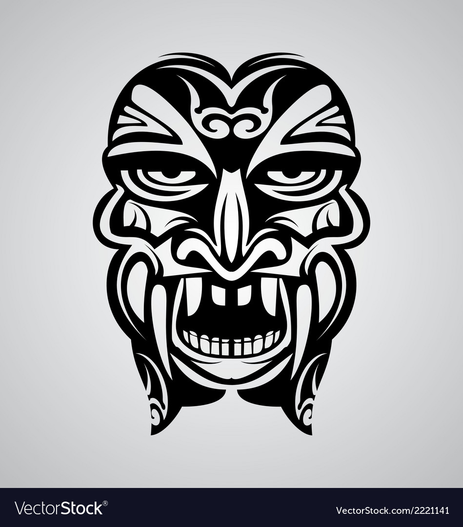 Tribal ancient mask vector | Price: 1 Credit (USD $1)