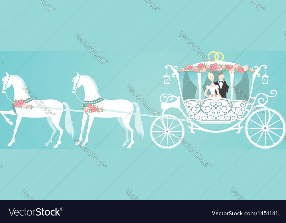 Wedding carriage vector | Price: 1 Credit (USD $1)