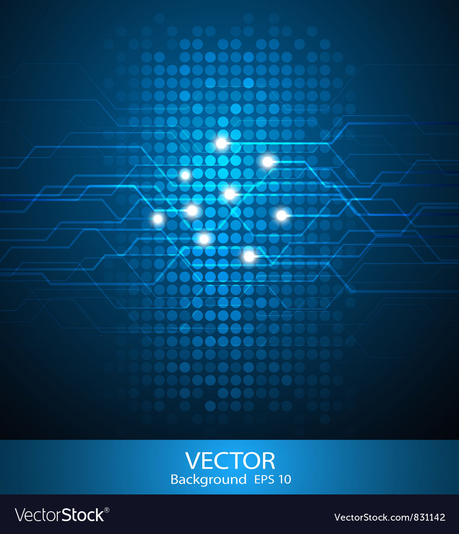 Abstract circuit background vector | Price: 3 Credit (USD $3)