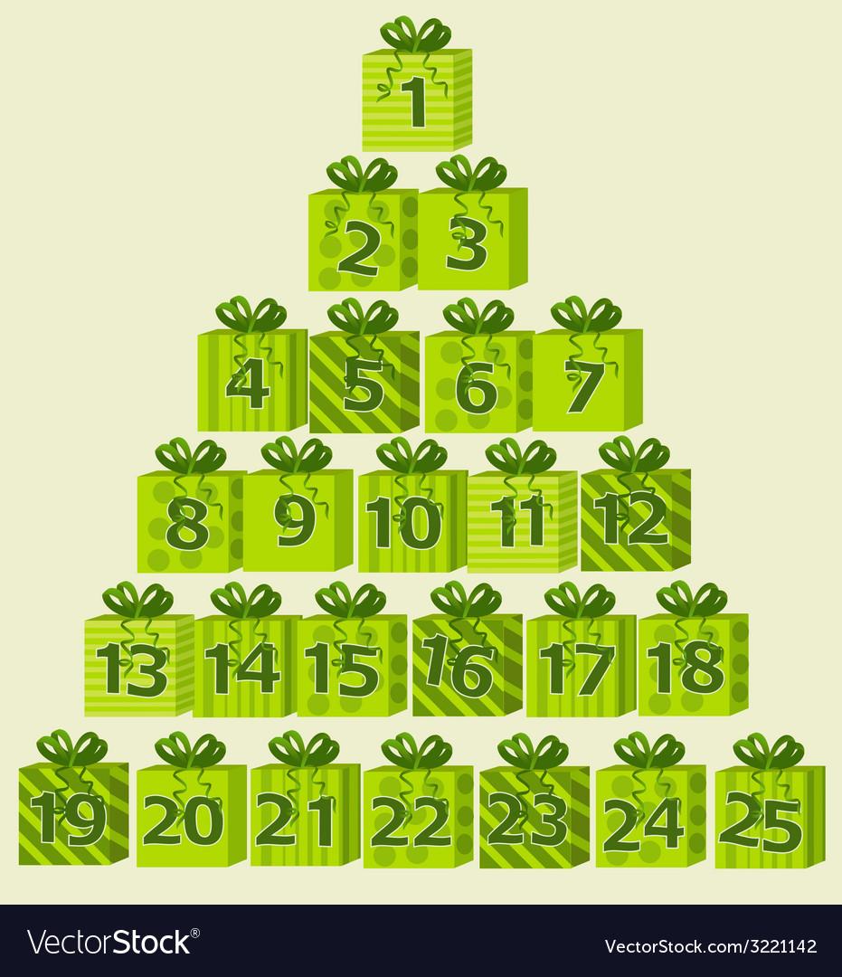 Advent calendar vector | Price: 1 Credit (USD $1)
