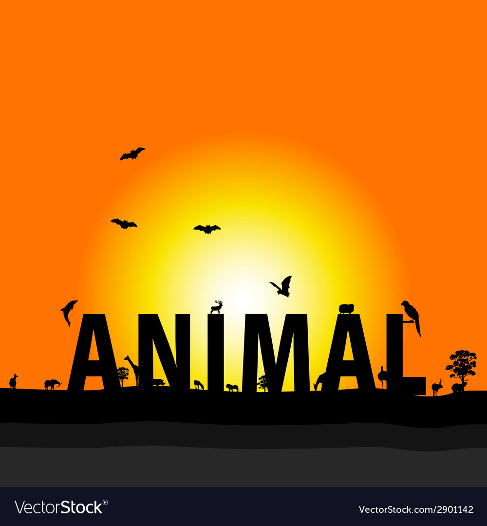 Animal nature color vector | Price: 1 Credit (USD $1)