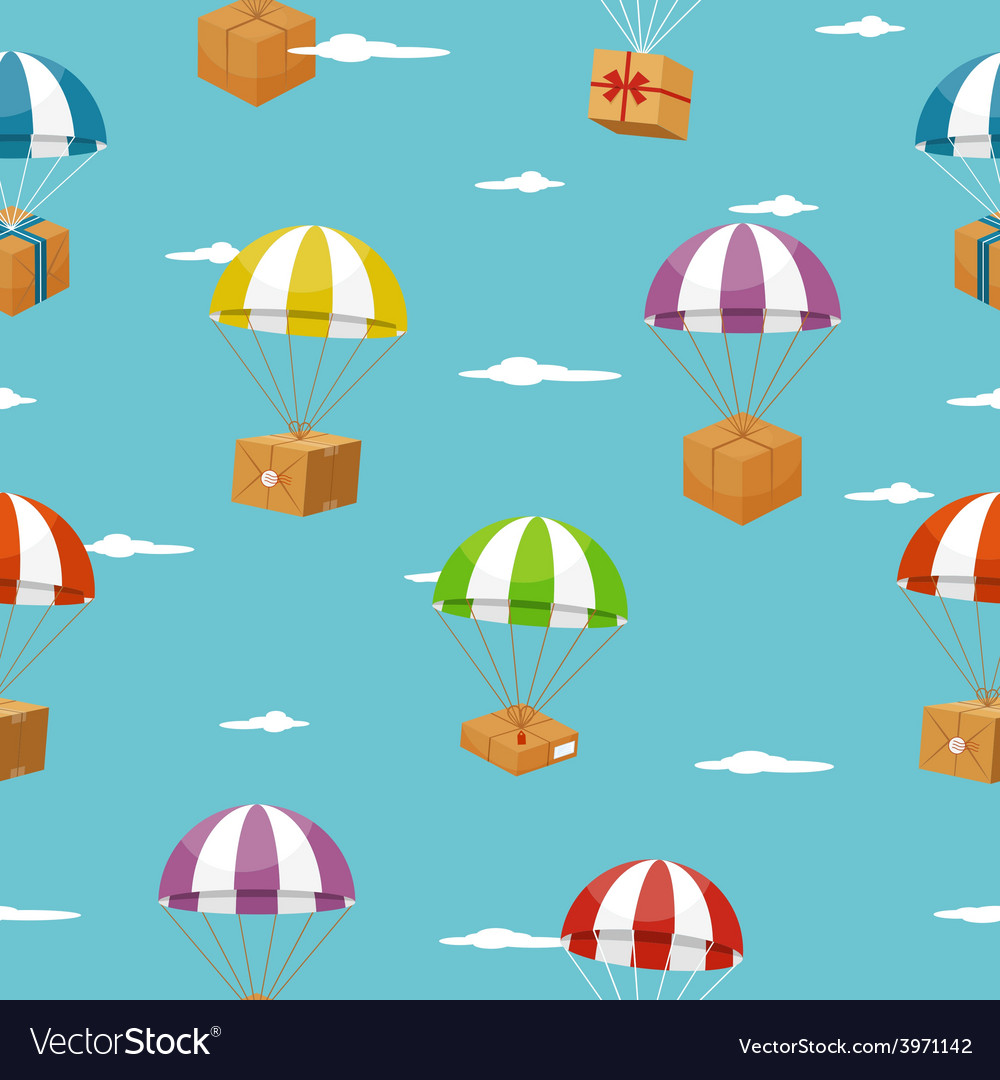 Delivery seamless background with gift boxes on vector | Price: 1 Credit (USD $1)