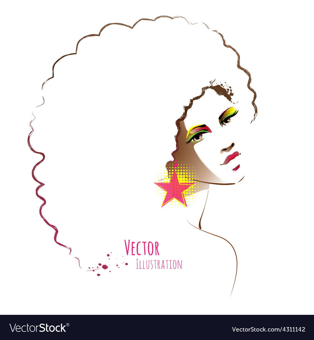 Disco girl vector | Price: 1 Credit (USD $1)