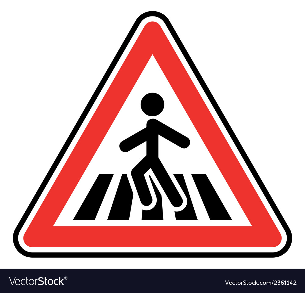 Pedestrian sign1 vector | Price: 1 Credit (USD $1)
