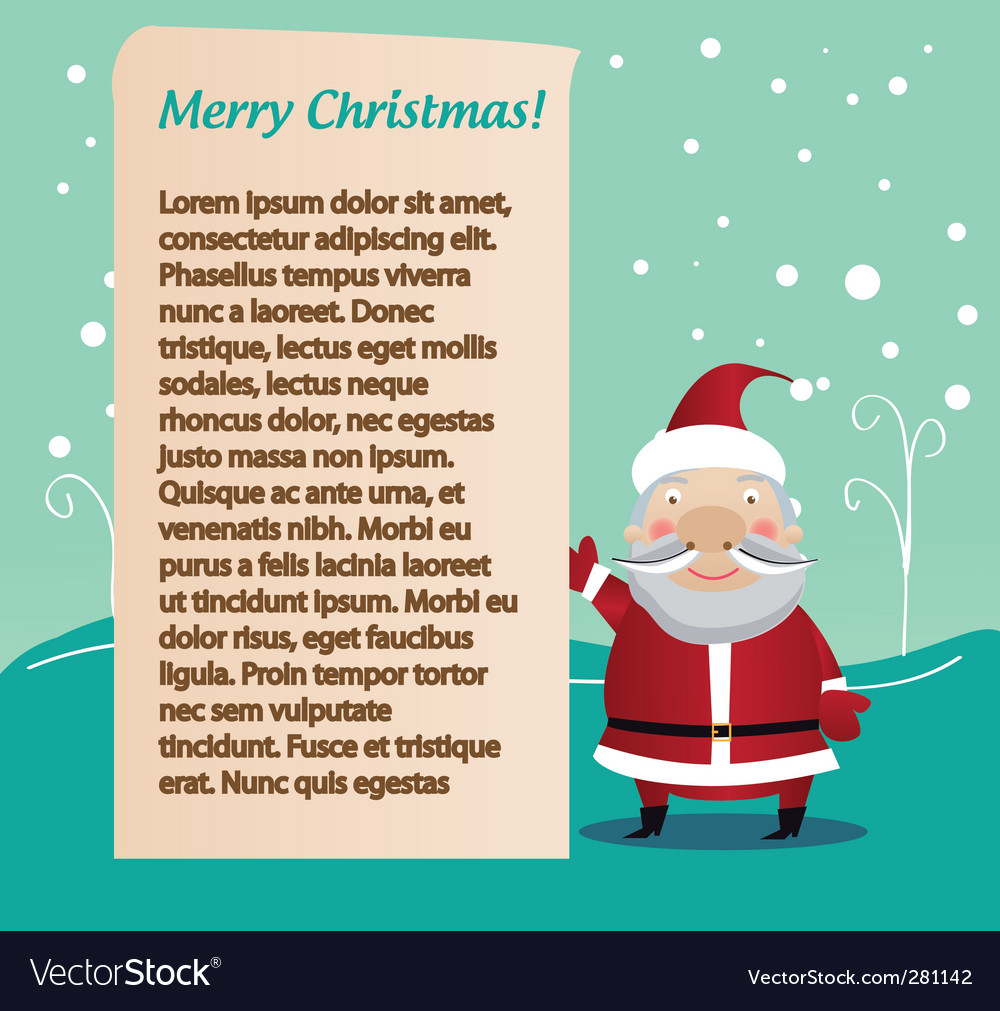 Santa's letter vector | Price: 1 Credit (USD $1)