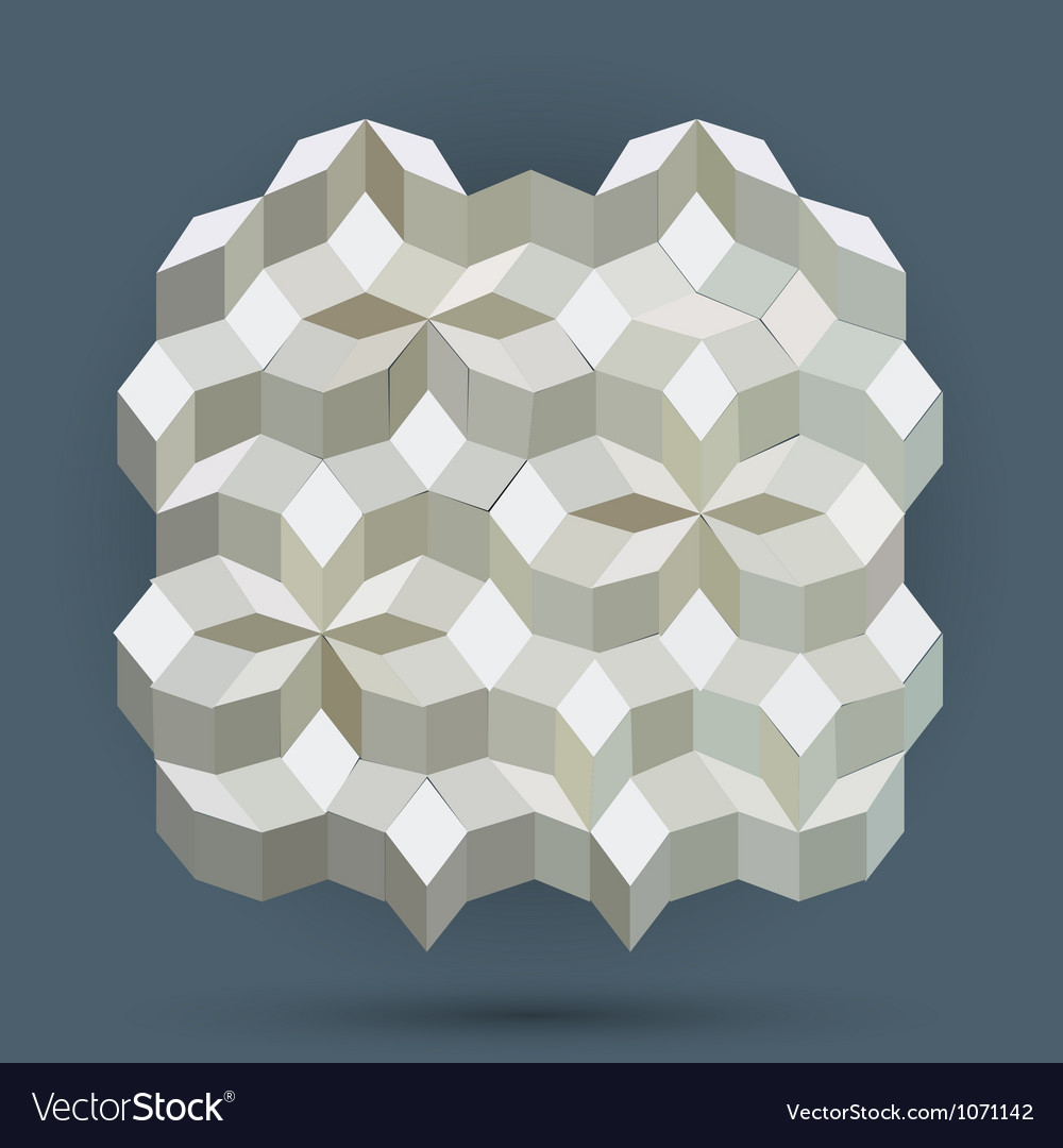 Seamless abstract hexagon background vector | Price: 1 Credit (USD $1)