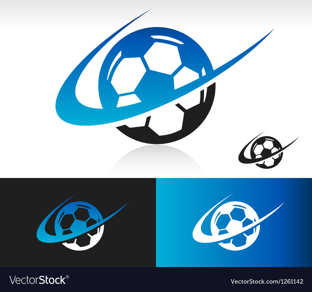 Swoosh soccer ball logo icon vector | Price: 1 Credit (USD $1)