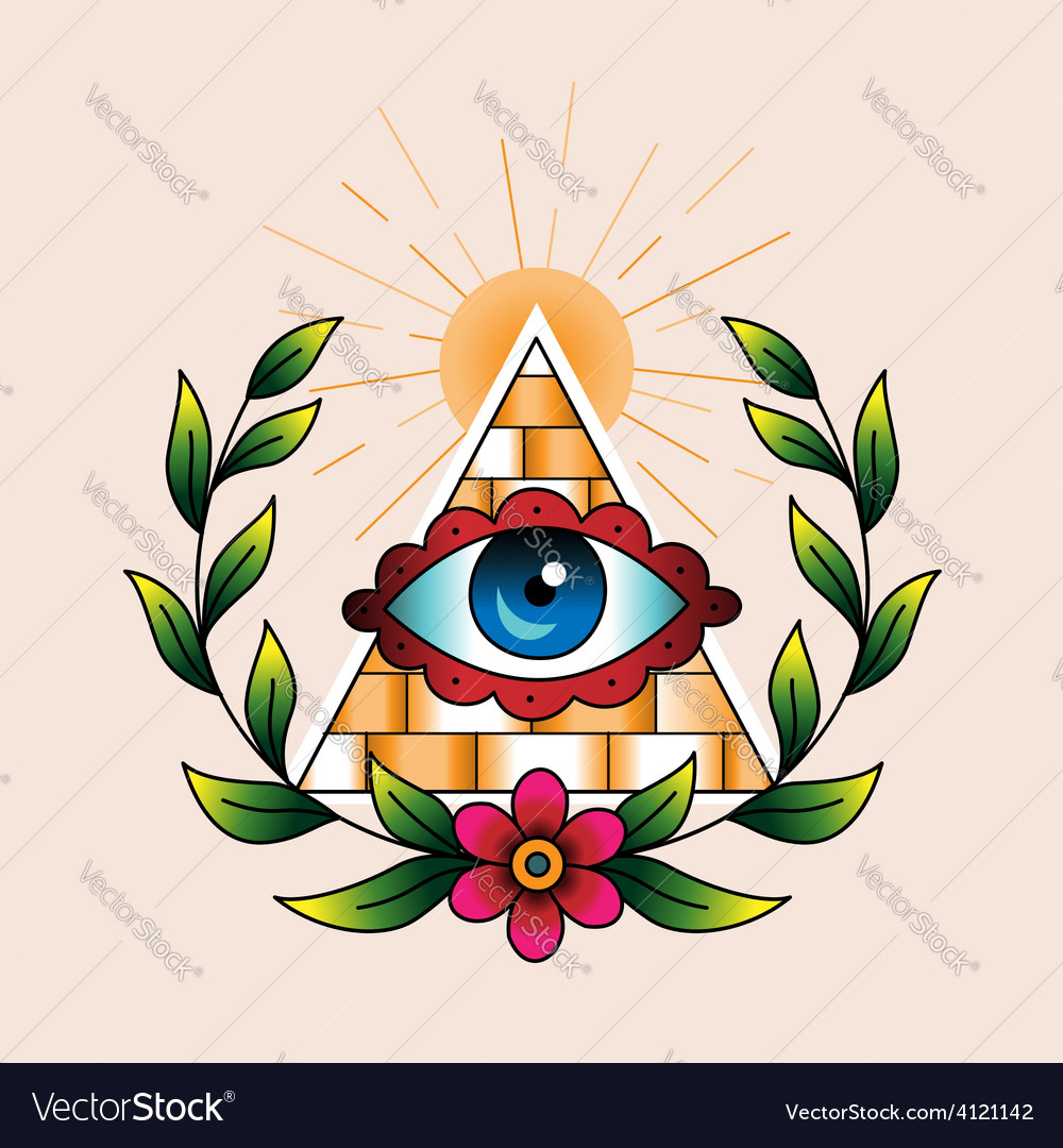 Tattoo pyramid vector | Price: 1 Credit (USD $1)