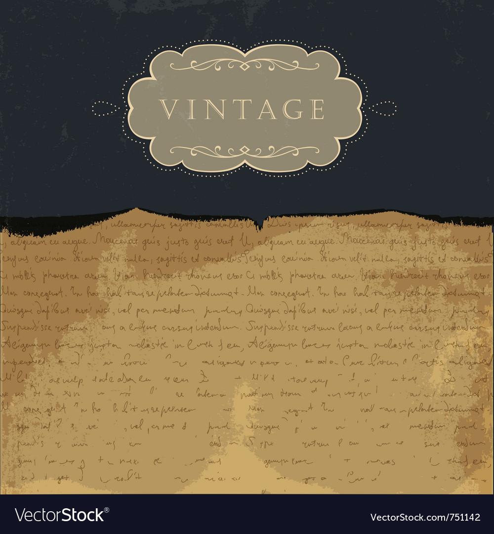 Vintage paper background vector | Price: 1 Credit (USD $1)