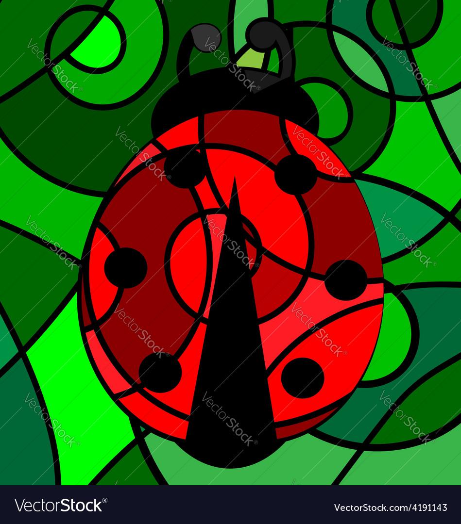 Abstract ladybug vector | Price: 1 Credit (USD $1)