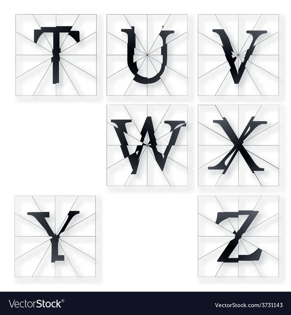 Broken font g to l vector | Price: 1 Credit (USD $1)