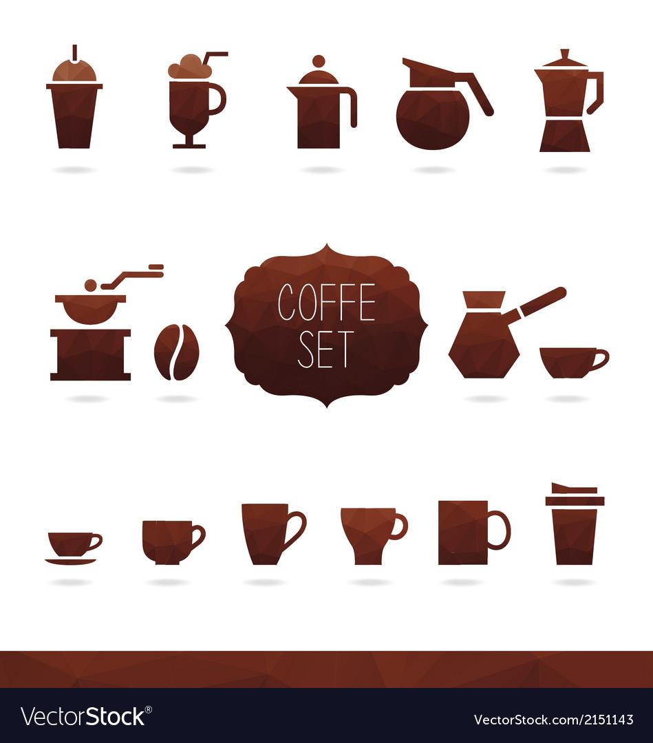 Coffe set vector | Price: 1 Credit (USD $1)