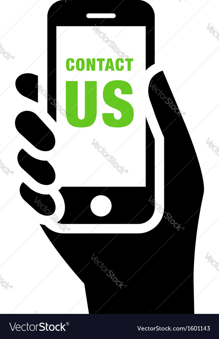 Contact us sign vector | Price: 1 Credit (USD $1)