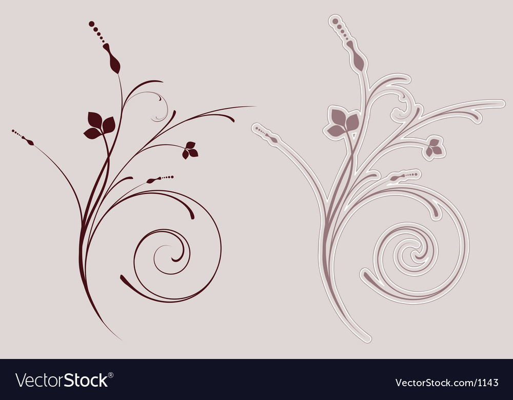 Decorative flourish vector | Price: 1 Credit (USD $1)