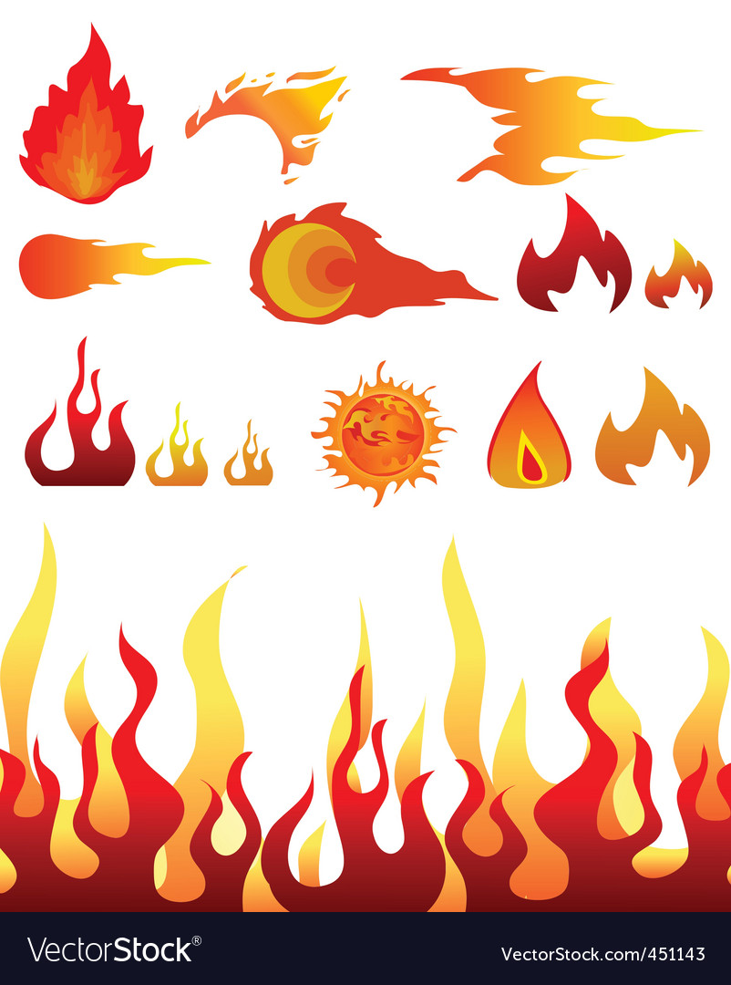 Design elements fire vector | Price: 1 Credit (USD $1)