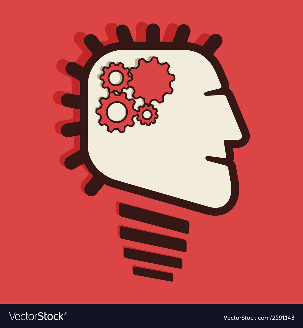 Fast process work brain concept vector | Price: 1 Credit (USD $1)