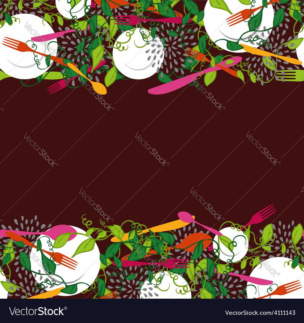 Food restaurant seamless pattern vector | Price: 1 Credit (USD $1)