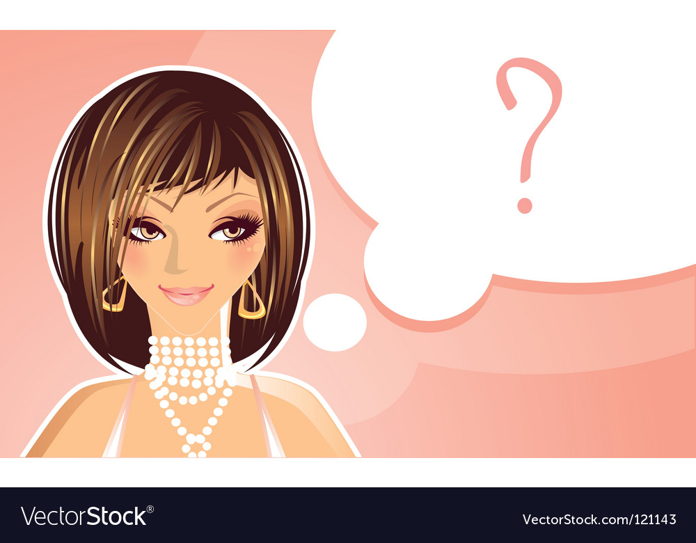 Girl question vector | Price: 1 Credit (USD $1)