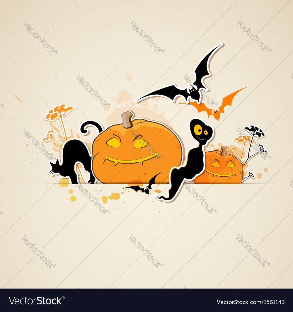 Halloween spooky background vector | Price: 1 Credit (USD $1)