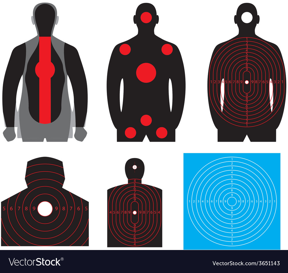 Human silhouette target vector | Price: 1 Credit (USD $1)