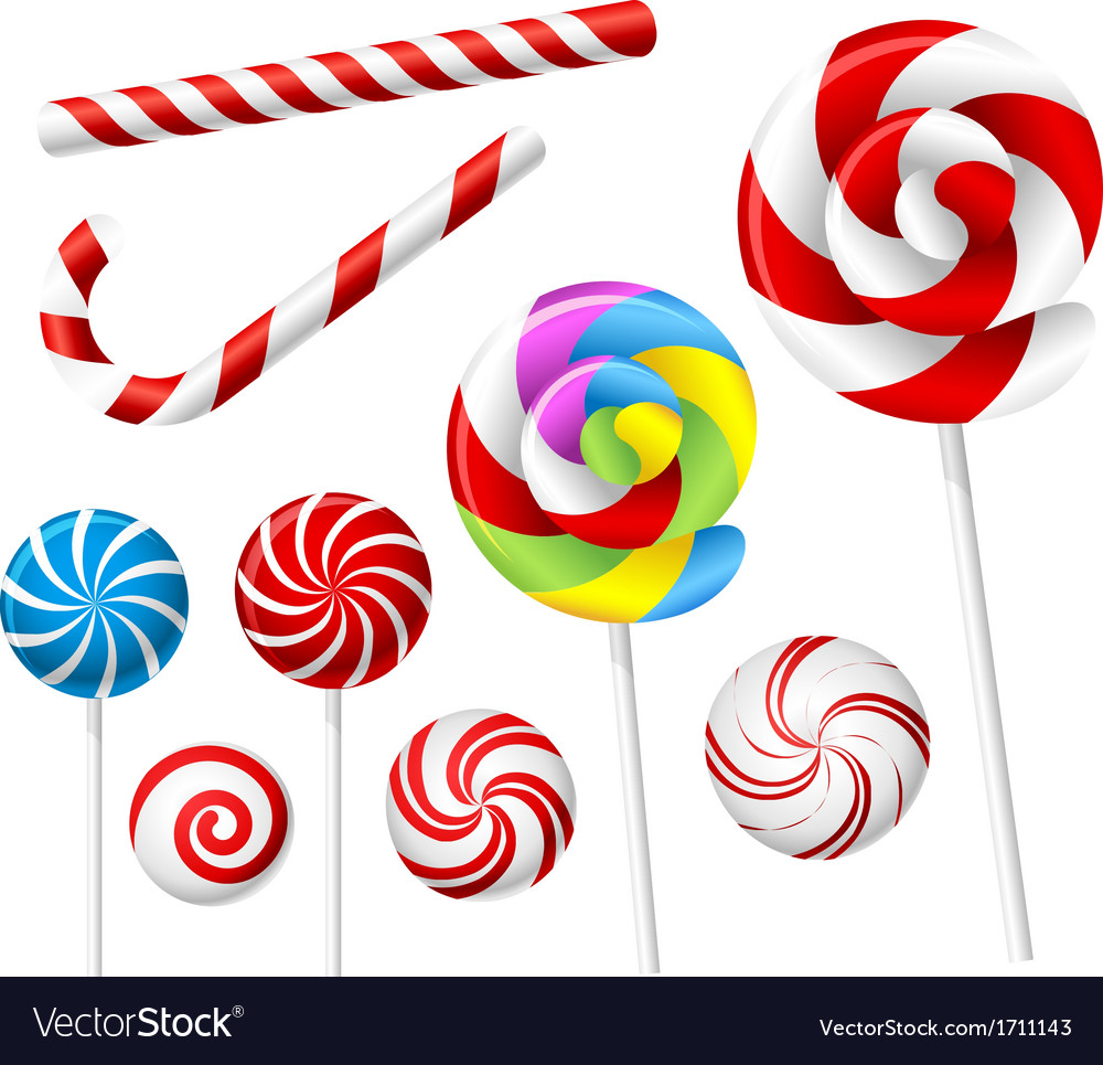 Lollipop and candy set vector | Price: 1 Credit (USD $1)