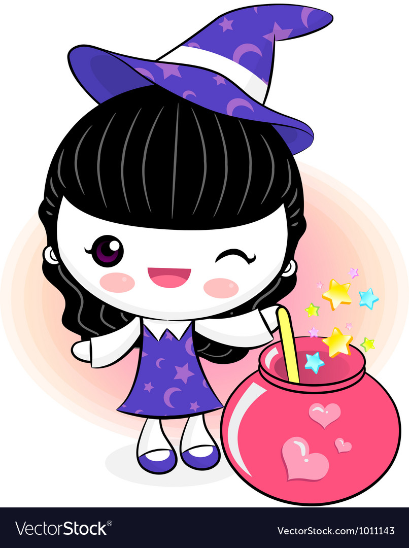 Love potions to make little witch vector | Price: 3 Credit (USD $3)