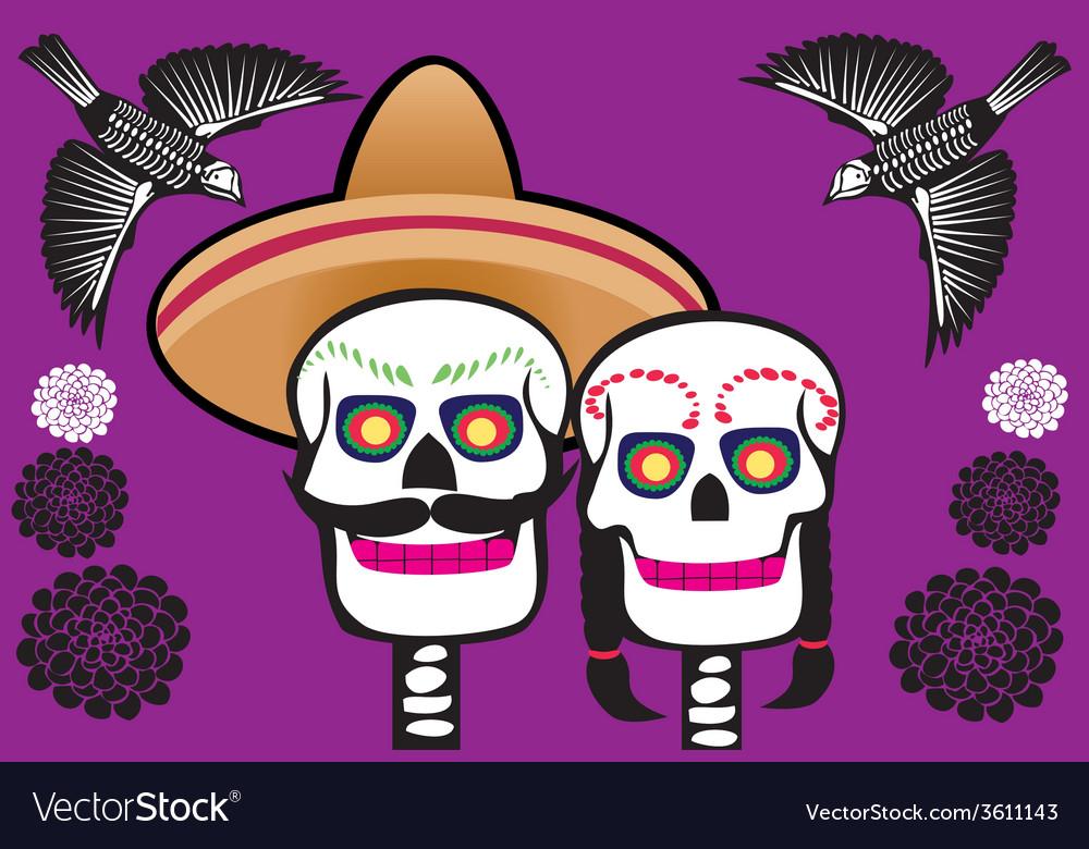 Mexican skull vector | Price: 1 Credit (USD $1)