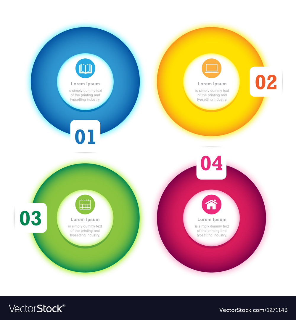 Modern circle design full color template vector | Price: 1 Credit (USD $1)