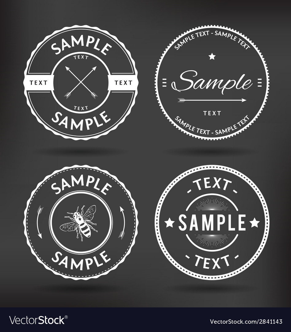 Retro logo elements vector