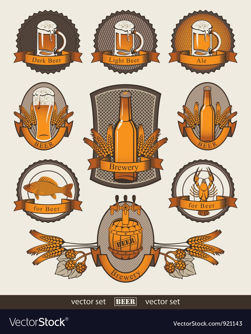 Set of beer vector | Price: 3 Credit (USD $3)
