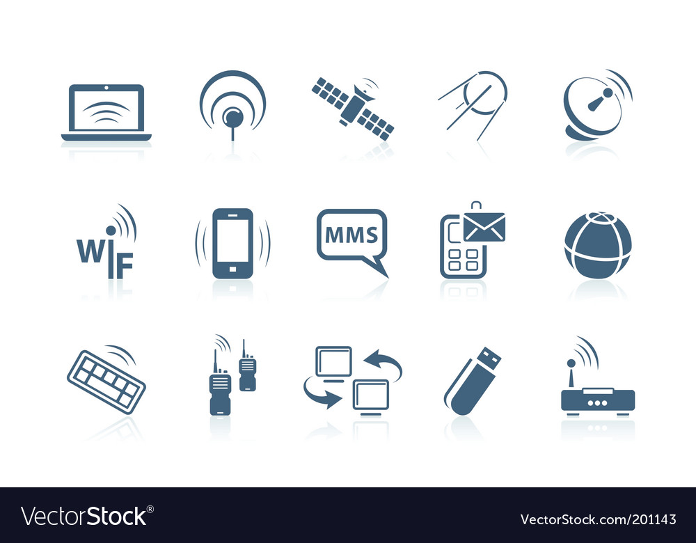 Wireless icons vector | Price: 1 Credit (USD $1)