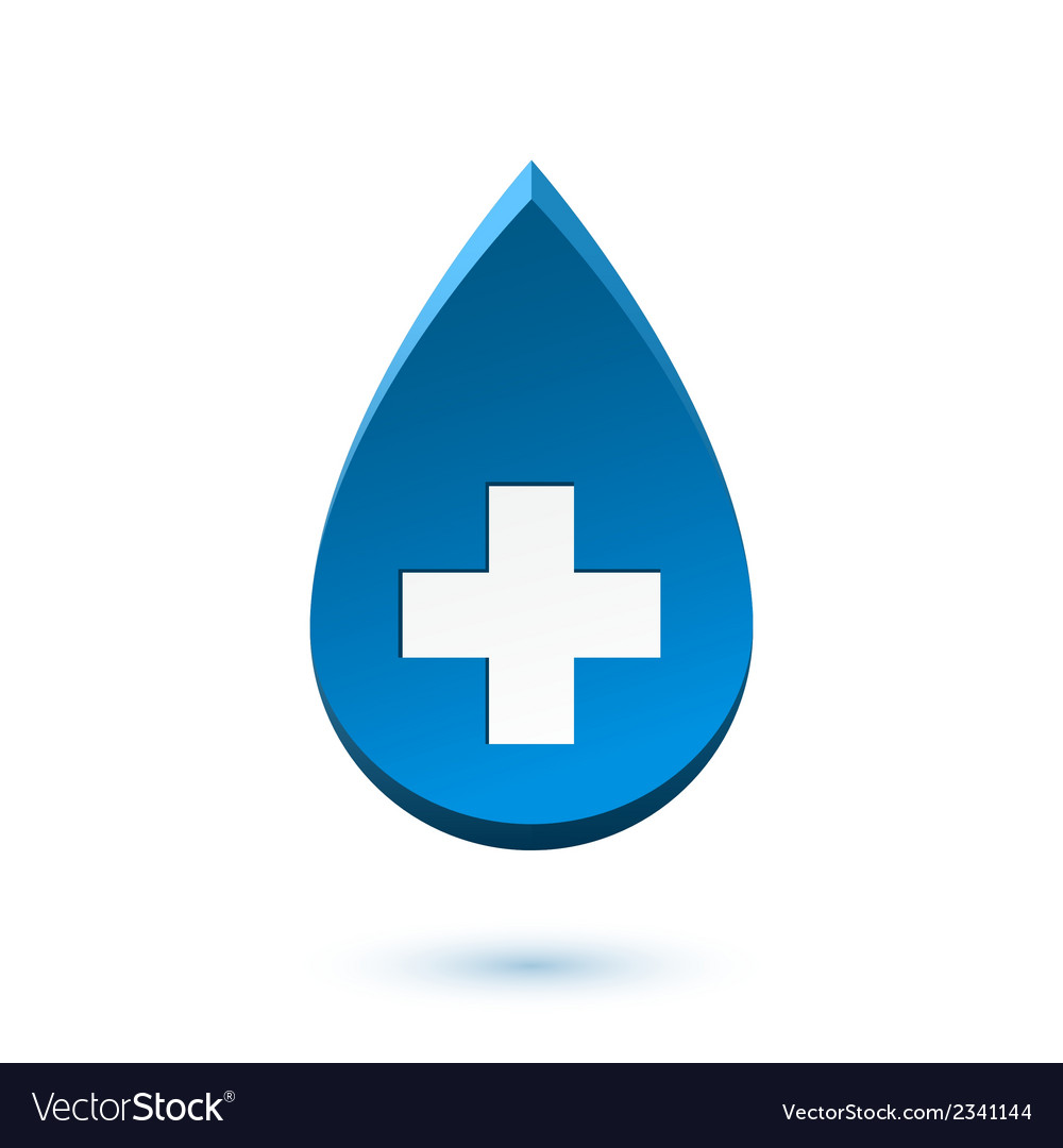 Abstract blue drop medical symbol vector | Price: 1 Credit (USD $1)