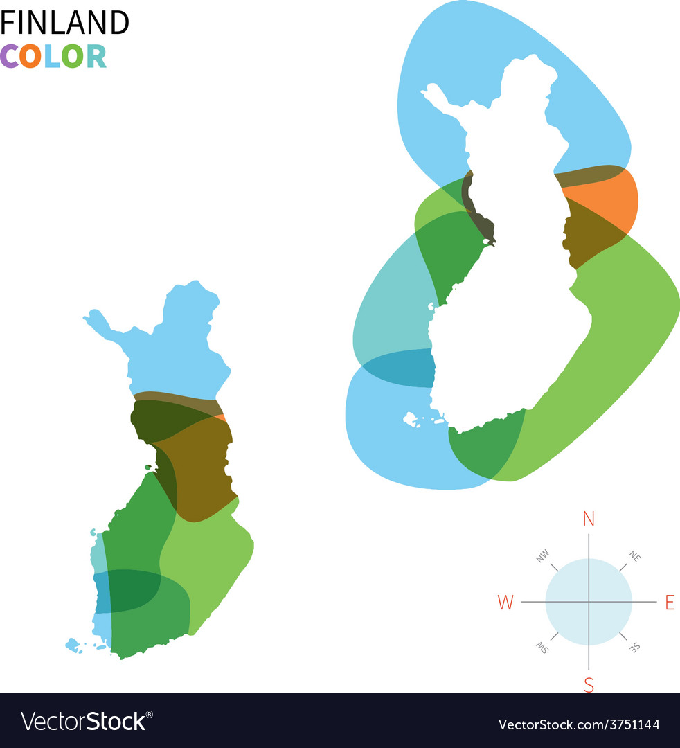 Abstract color map of finland vector | Price: 1 Credit (USD $1)