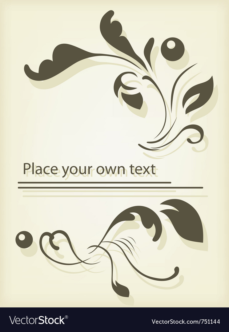 Calligraphic design vector | Price: 1 Credit (USD $1)