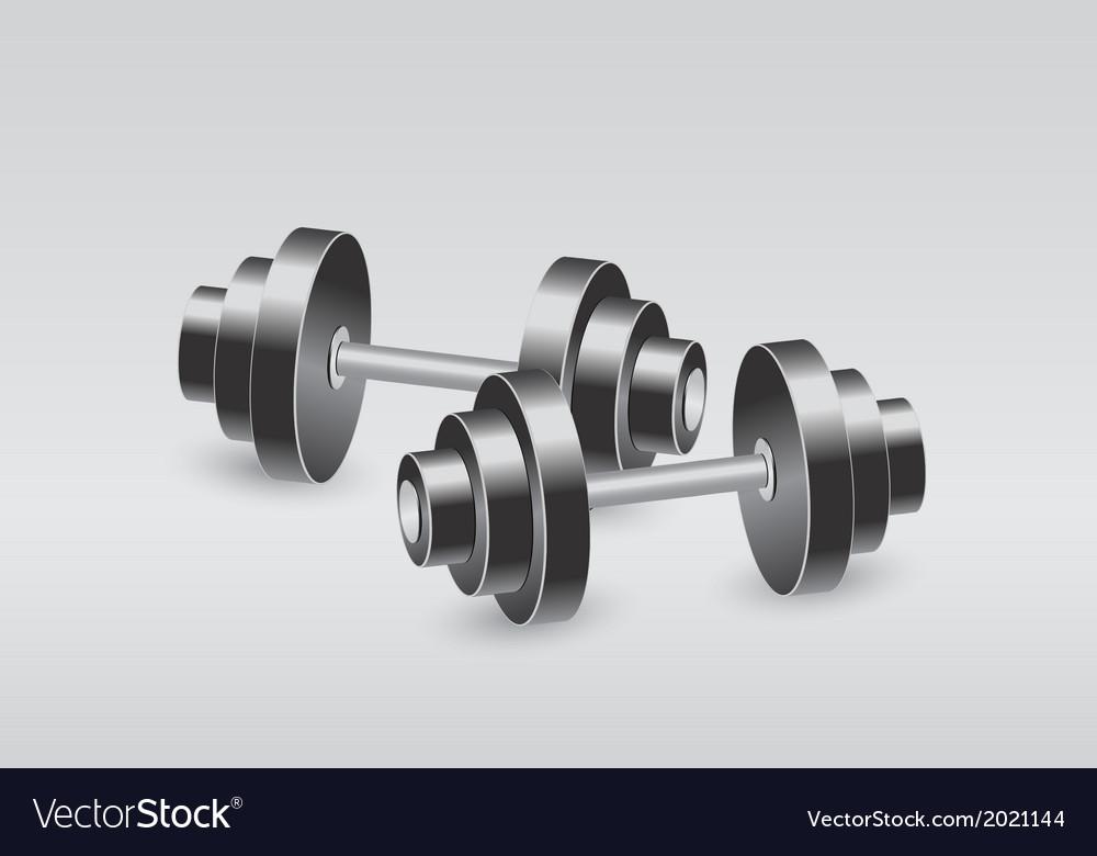 Dumbbells vector | Price: 1 Credit (USD $1)