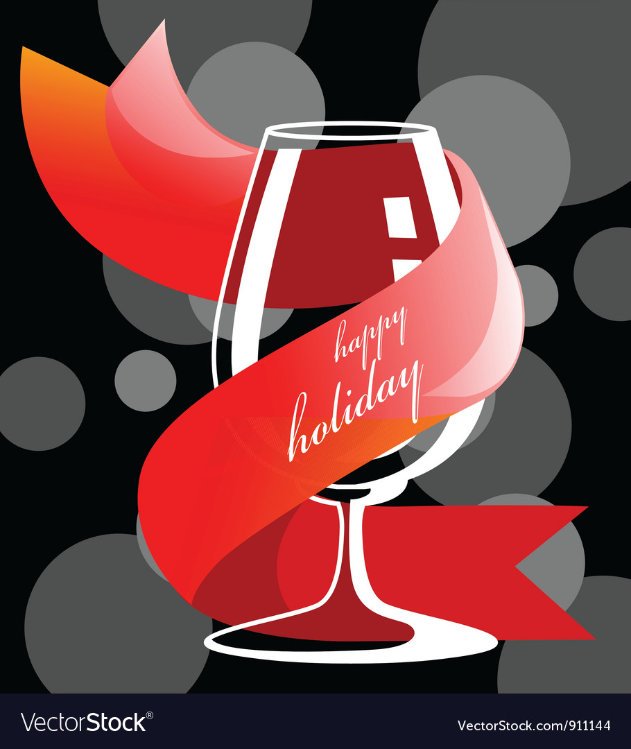 Holiday drink glass vector | Price: 1 Credit (USD $1)