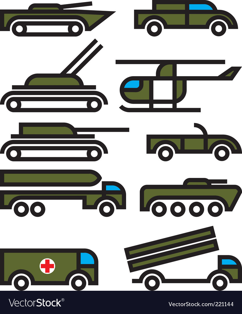 Military vehicles and equipment vector | Price: 1 Credit (USD $1)