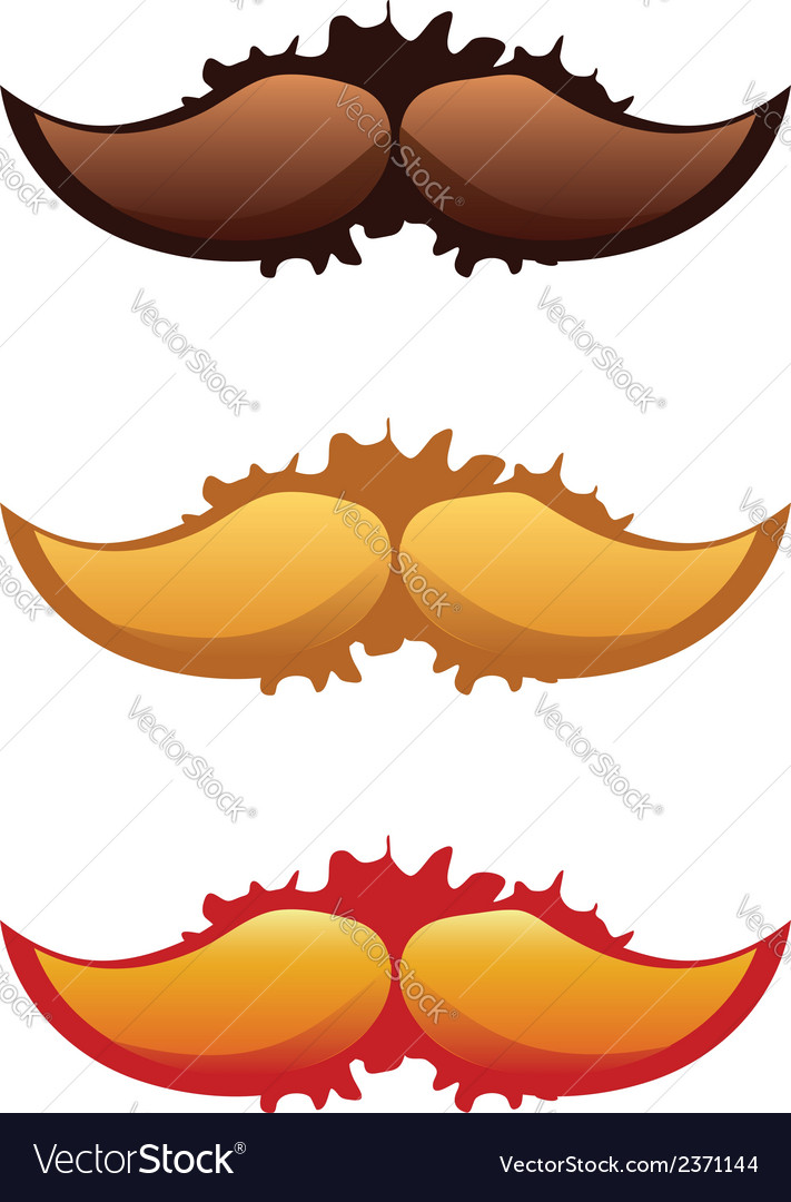 Mustaches set2 vector | Price: 1 Credit (USD $1)