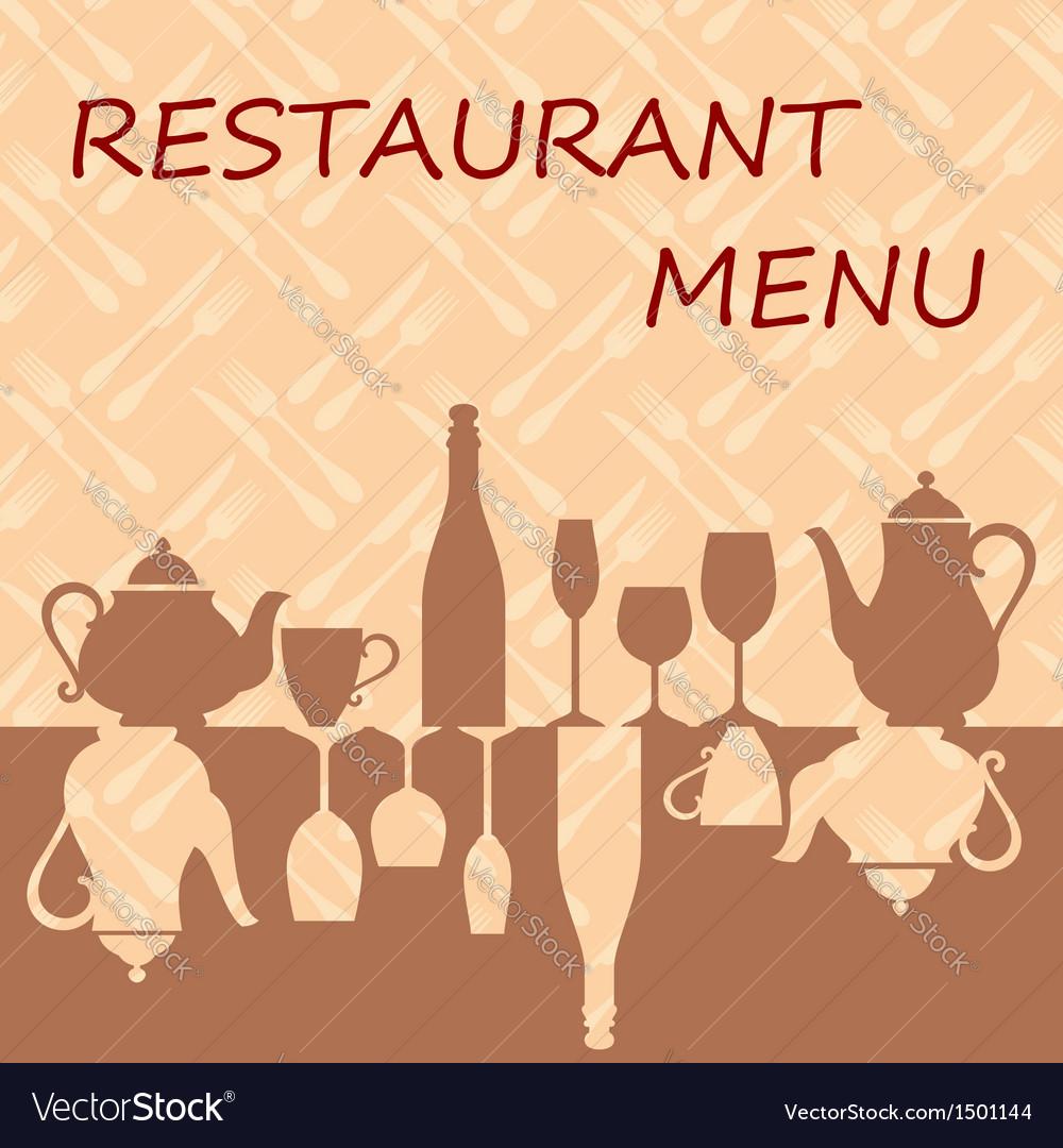 Restaurant menu background vector | Price: 1 Credit (USD $1)