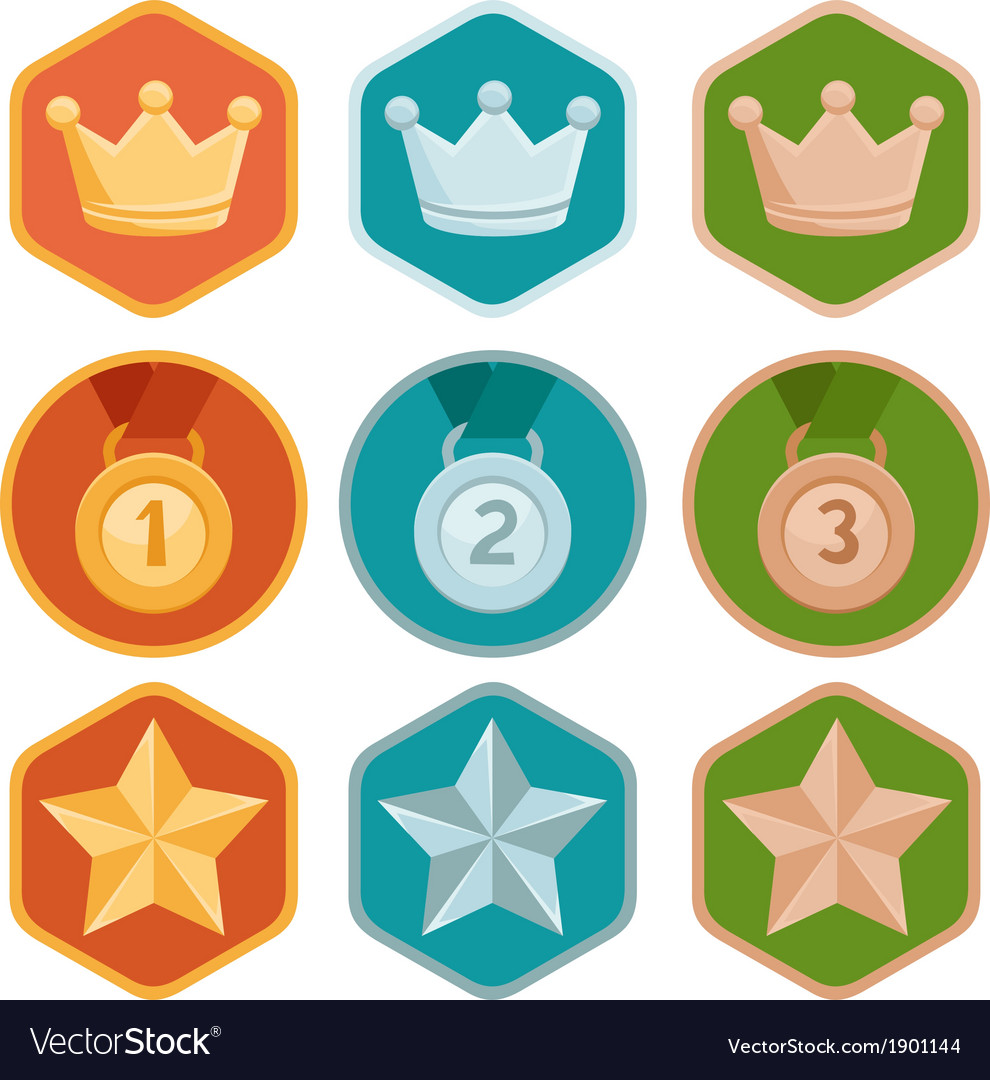 Rewards icons vector | Price: 1 Credit (USD $1)