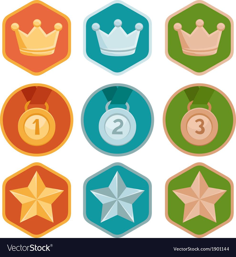 Rewards icons vector | Price: 1 Credit (USD $1)