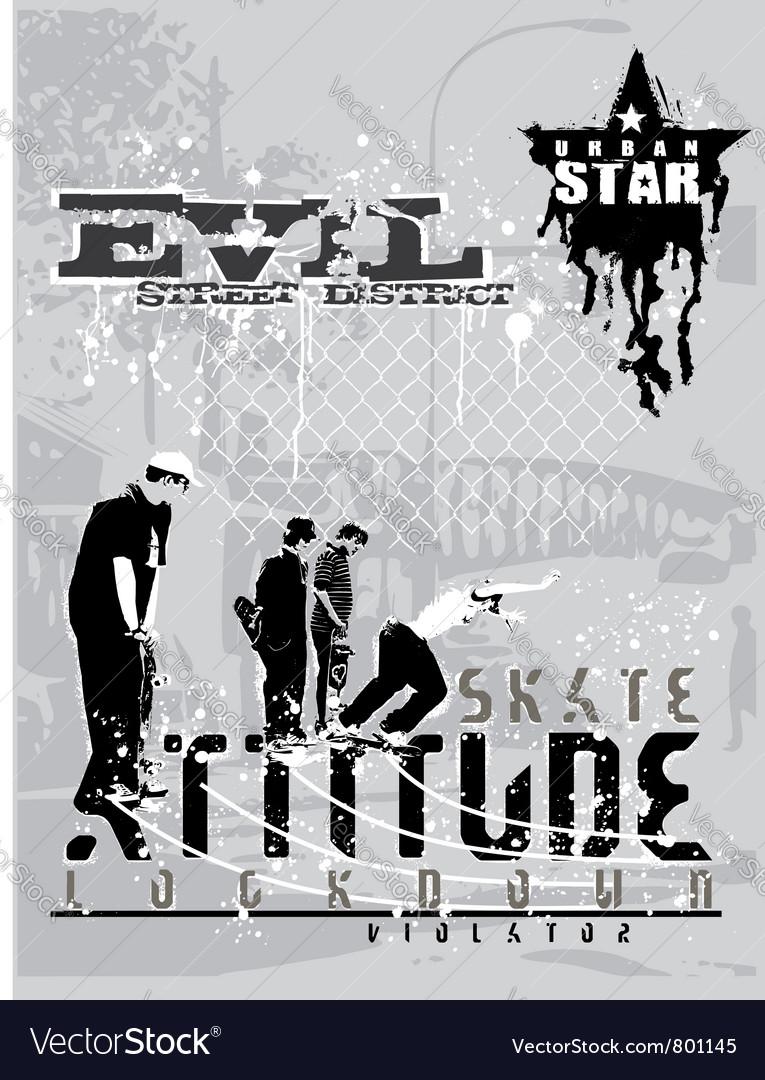 Attitude skater vector   Price: 1 Credit (USD $1)