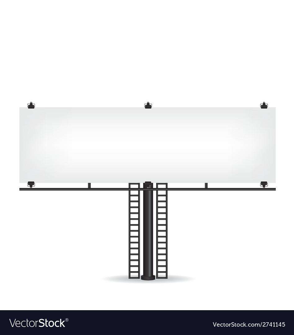 Blank black billboard vector | Price: 1 Credit (USD $1)