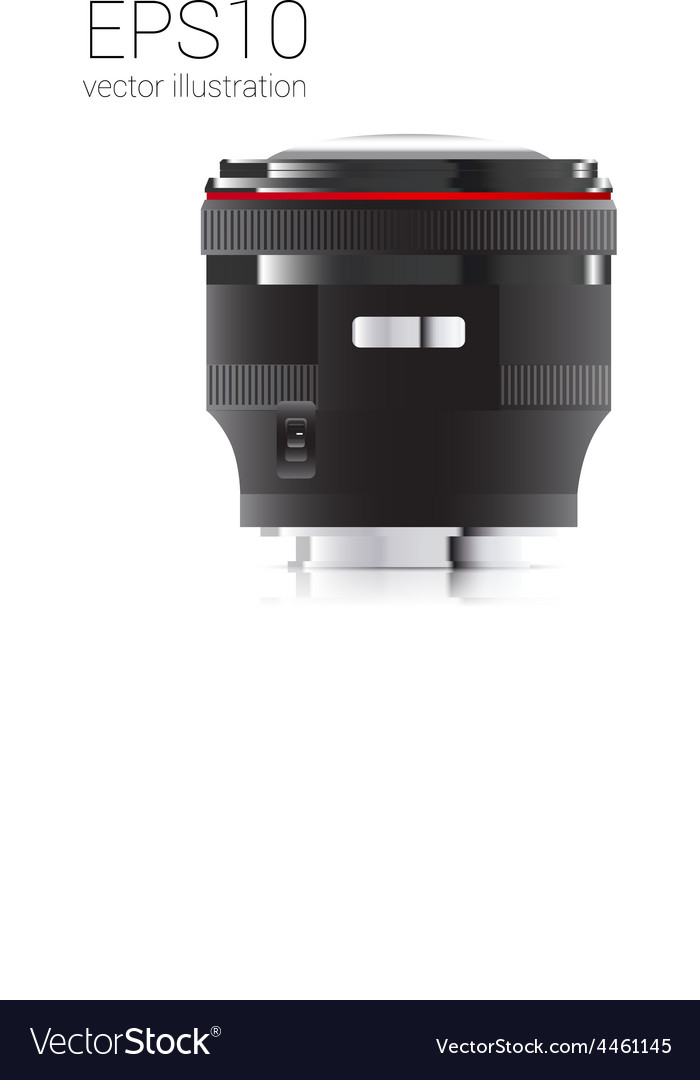 Drawn from the camera lens side view vector | Price: 1 Credit (USD $1)