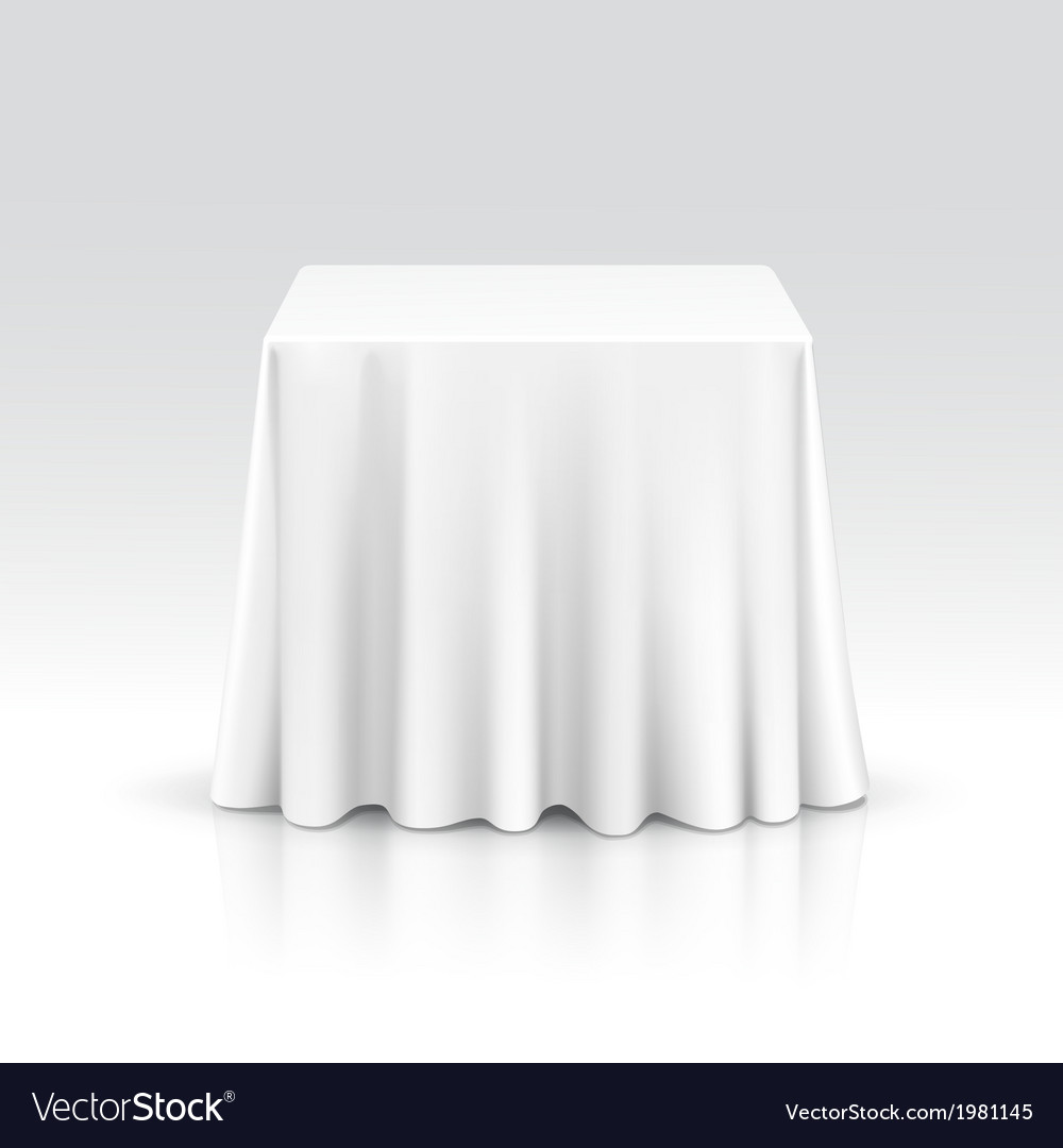 Empty square table with tablecloth vector | Price: 1 Credit (USD $1)